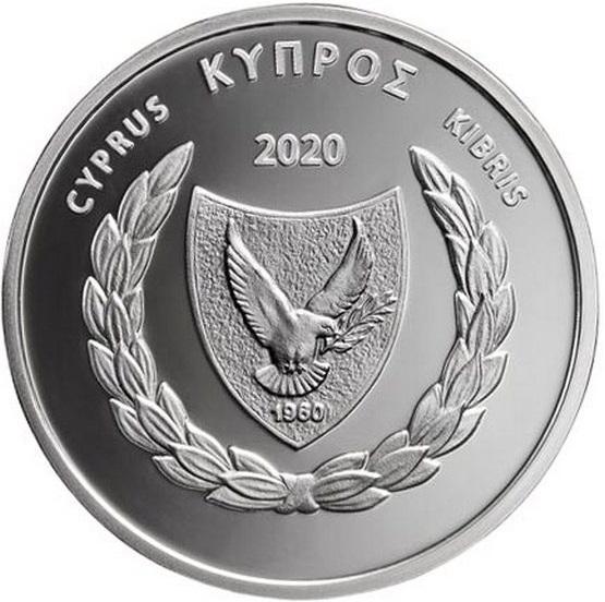 Кипр монета 5 евро Леда и лебедь, аверс