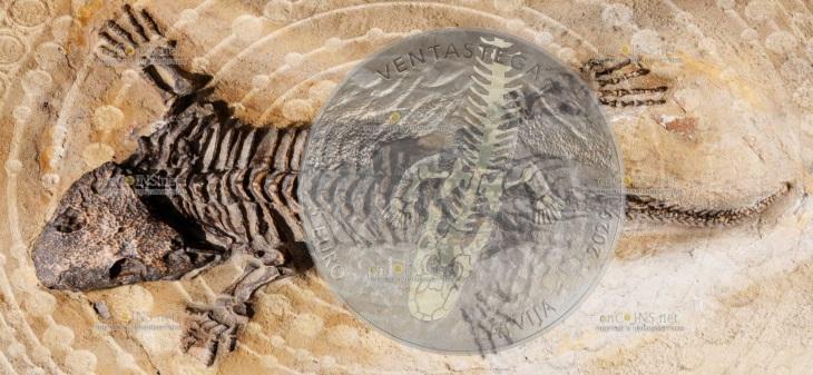 Латвия монета 5 евро Вентастега