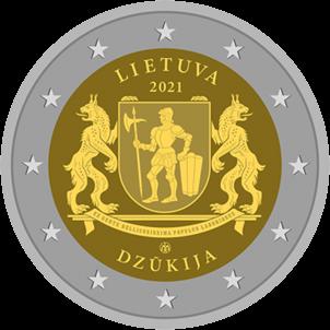 Литва монета 2 евро Дзукия, реверс