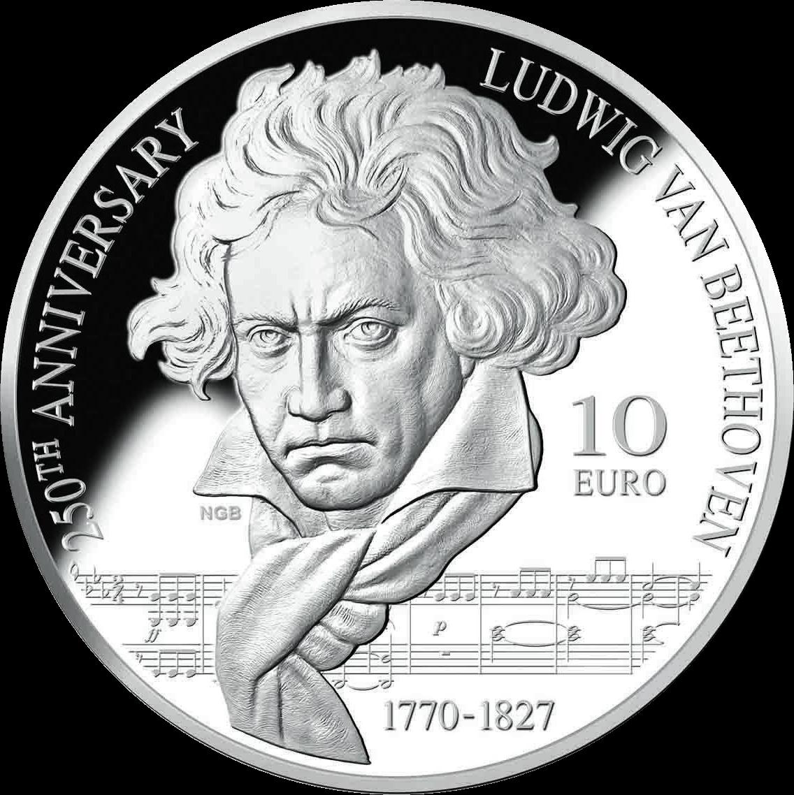 Мальта монета 10 евро Людвиг ван Бетховен, реверс