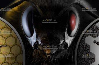 Монголия монета 2 000 тугриков Пчелы-прототипы Терминатора