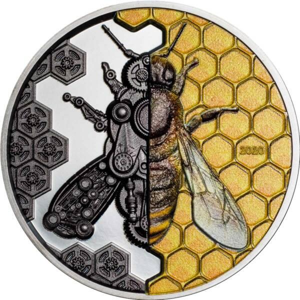 Монголия монета 2 000 тугриков Пчелы-прототипы Терминатора, реверс