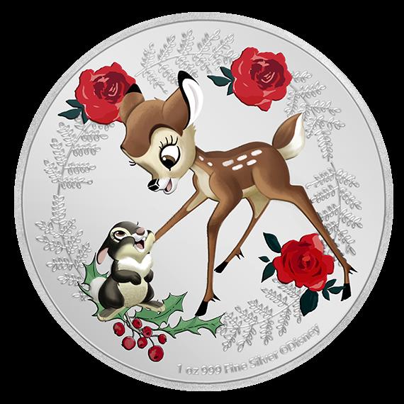 Ниуэ монета 2 доллара Бэмби и Тампер, реверс