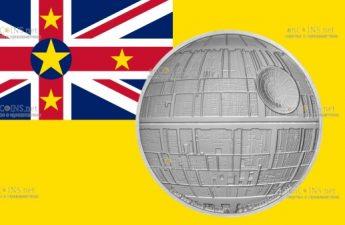 Ниуэ монета 2 доллара Звезда Смерти