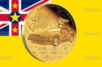 Ниуэ монета 250 долларов Назад в будущее