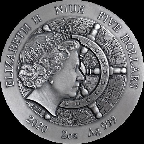 Ниуэ монета 5 долларов Титаник, аверс