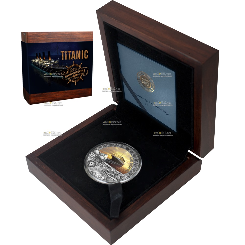 Ниуэ монета 5 долларов Титаник, подарочная упаковка