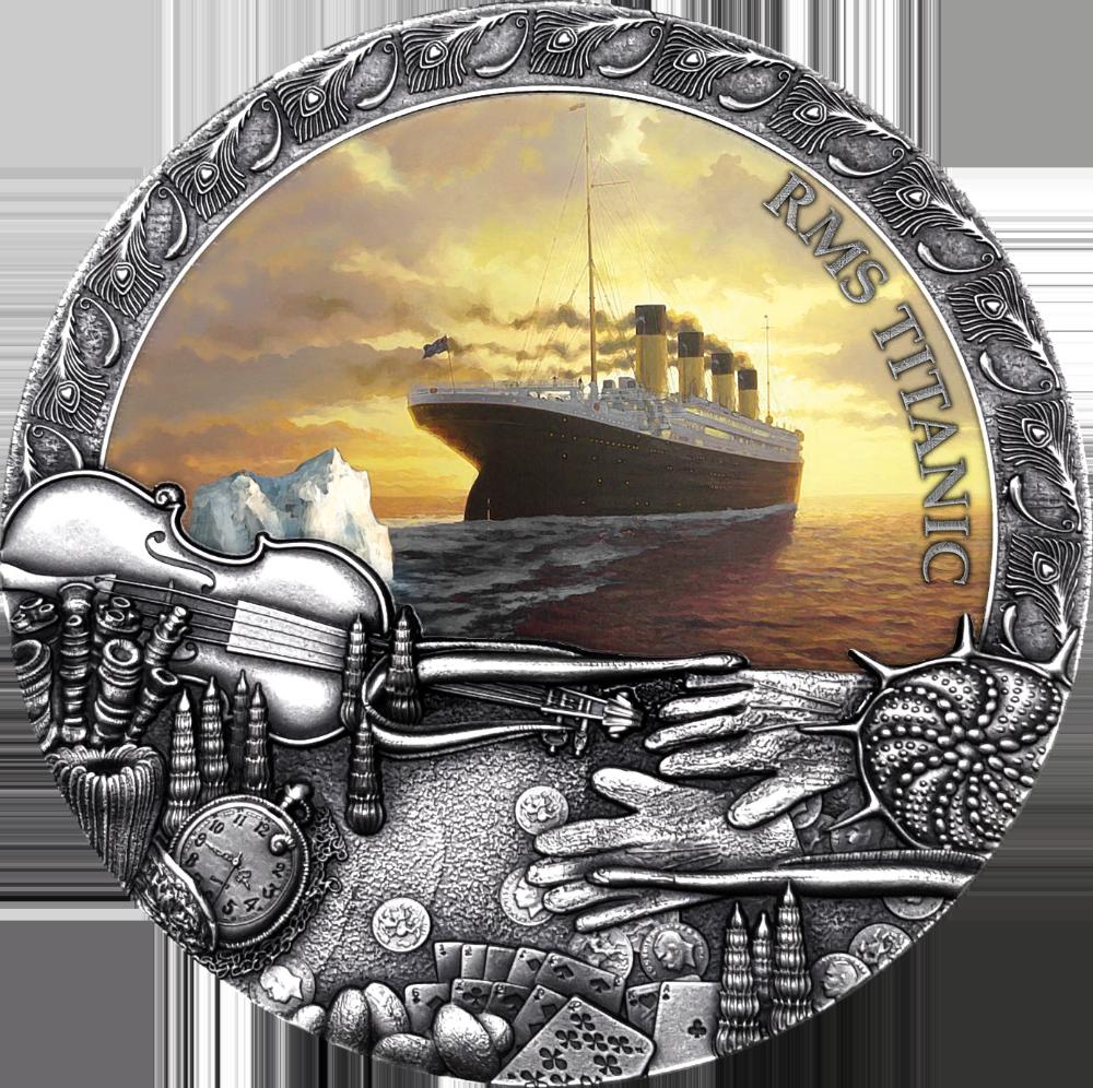Ниуэ монета 5 долларов Титаник, реверс