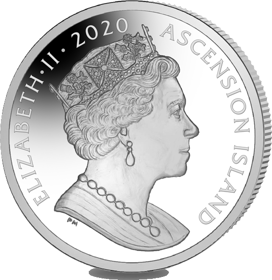 Остров Вознесения монета 1 крона Рождественская история, аверс