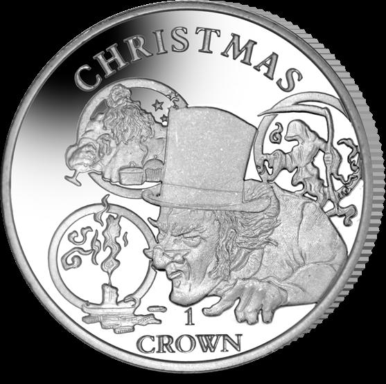 Остров Вознесения монета 1 крона Рождественская история, реверс
