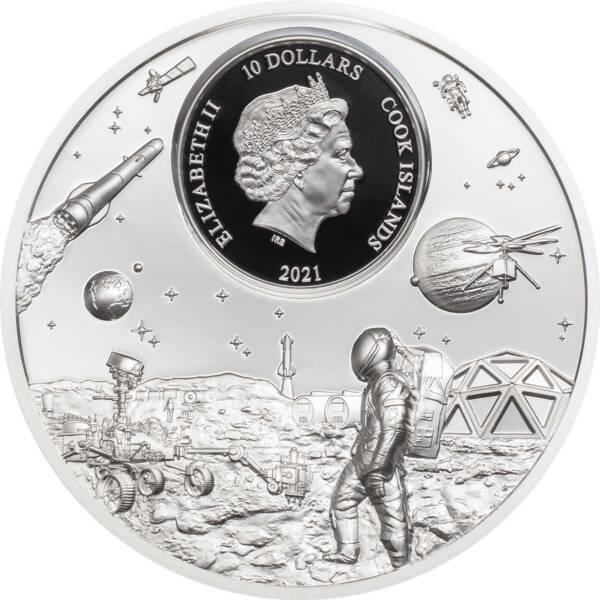 Острова Кука монета 10 долларов Путешественники жаждут открытий, аверс