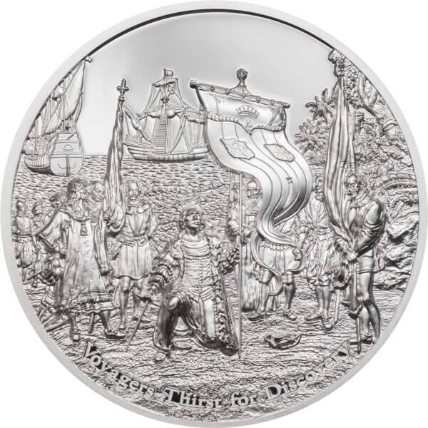 Острова Кука монета 10 долларов Путешественники жаждут открытий, реверс