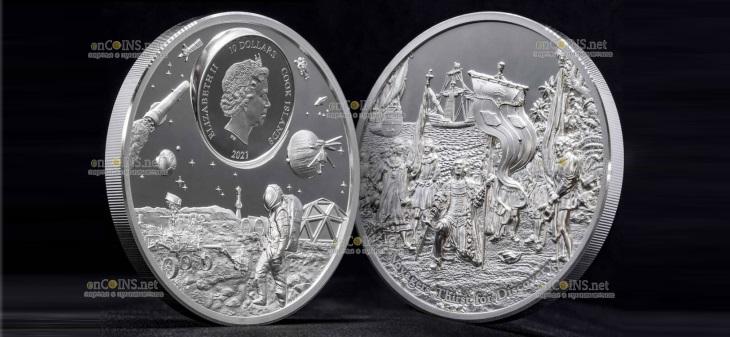Острова Кука монета 10 долларов Путешественники жаждут открытий