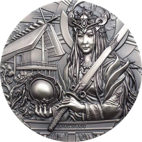 Острова Кука монета 20 долларов Аматэрасу, реверс