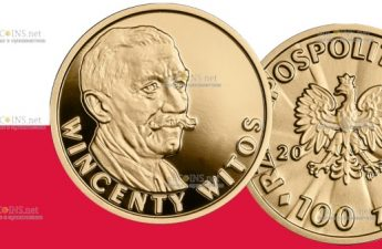 Польша монета 100 злотых Винцента Витос