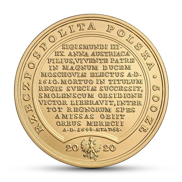 Польша монета 500 злотых Сокровища Станислава Августа - Владислава IV, аверс