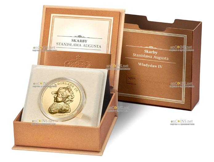 Польша монета 500 злотых Сокровища Станислава Августа - Владислава IV, подарочная упаковка