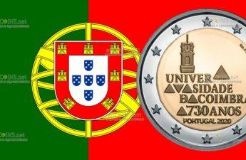 Португалия монета 2 евро Коимбрский университет