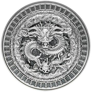 Республика Чад выпускает монету 10 000 франков КФА Запретный Дракон, реверс