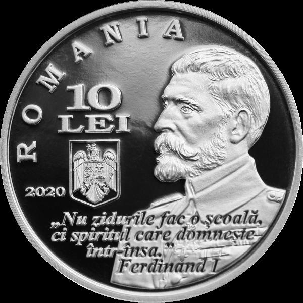 Румыния монета 10 леев Политехнический университет Тимишоары, аверс
