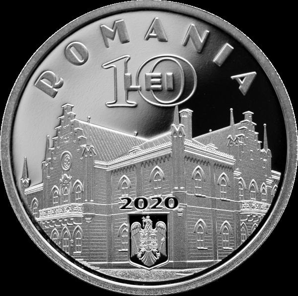 Румыния монета 10 лей Александру Иоан Куз, аверс