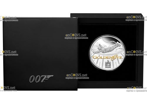 Тувалу монета 1 доллар Золотой Глаз, подарочная упаковка