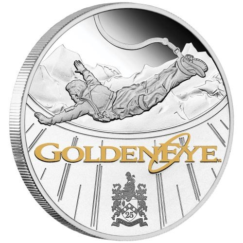 Тувалу монета 1 доллар Золотой Глаз, реверс