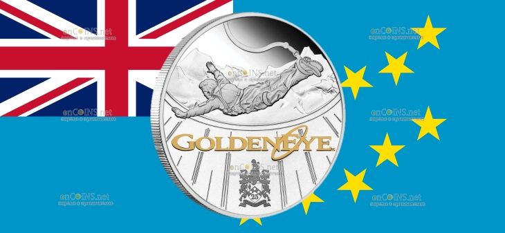 Тувалу монета 1 доллар Золотой Глаз