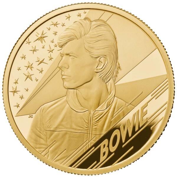 Британия монета 100 фунтов Дэвид Боуи, реверс