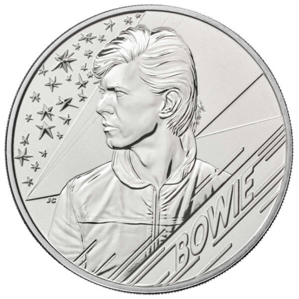 Британия монета 2 фунта Дэвид Боуи, реверс