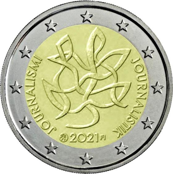 Финляндия монета 2 евро Журналистика, реверс