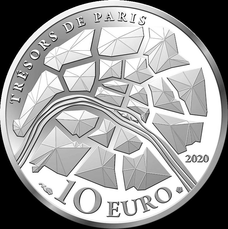 Франция монета 10 евро Елисейские поля, аверс