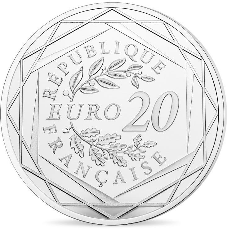 Франция монета 20 евро, 2020 год, аверс