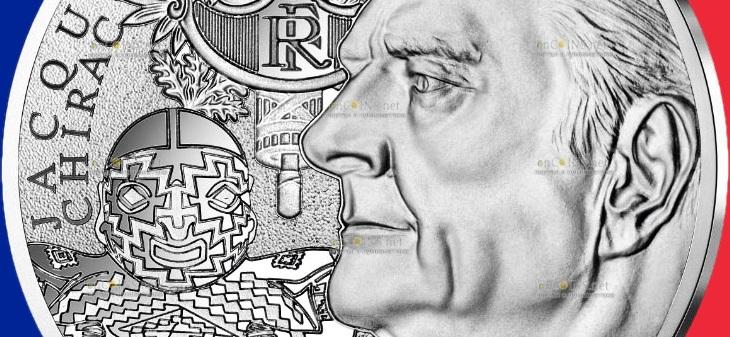 Франция монета 20 евро Жак Ширак