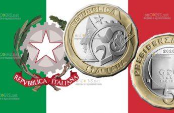 Италия монета 5 евро Президентство Италии