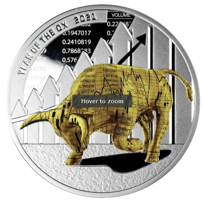 Камерун монета 1000 франков КФА год Быка, реверс