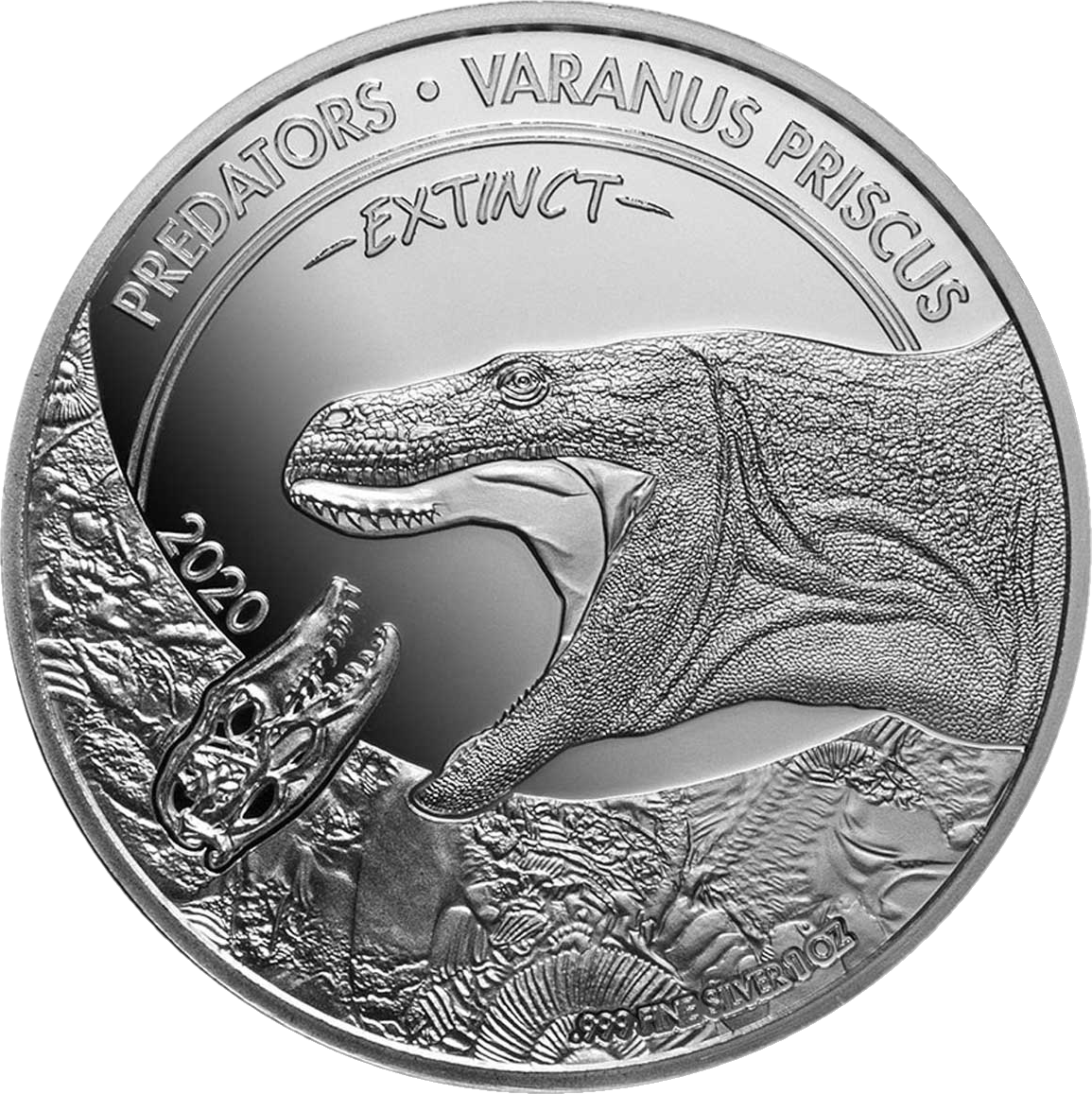 Конго монета 20 франков КФА Мегалания, реверс