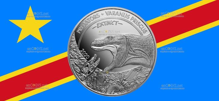 Конго монета 20 франков КФА Мегалания