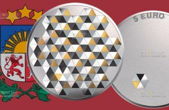Латвия монета 5 евро Личная свобода