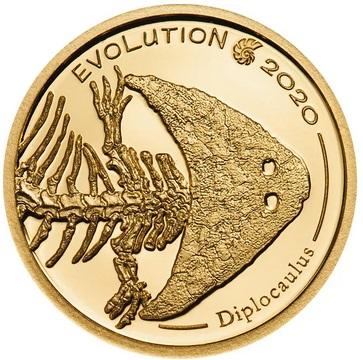 Монголия монета 1 000 тугриков год Диплокаулус, реверс