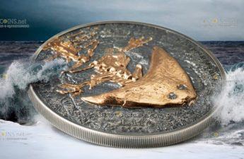 Монголия монета 500 тугриков год Диплокаулус