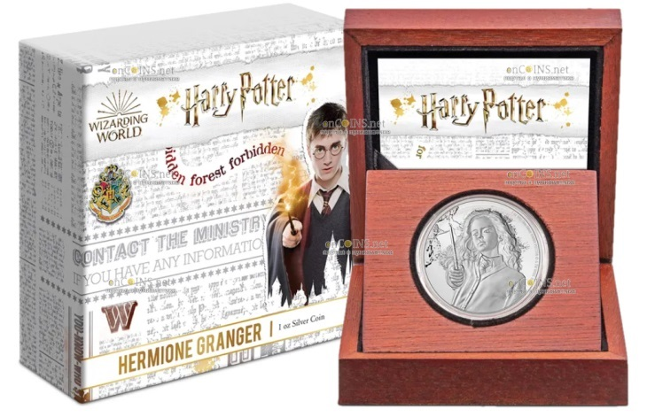 Ниуэ монета 2 доллара Гермиона, подарочная упаковка