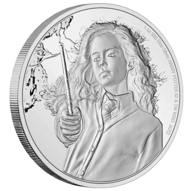 Ниуэ монета 2 доллара Гермиона, реверс