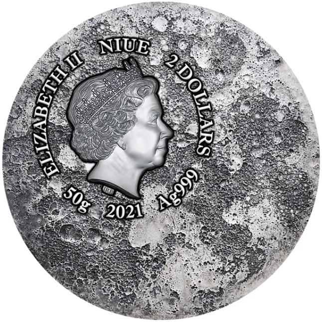 Ниуэ монета 2 доллара Лунный Кролик, аверс