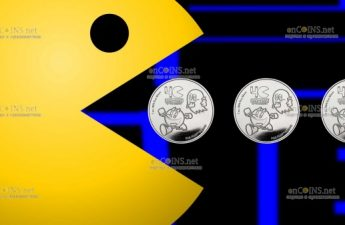 Ниуэ монета 2 доллара PAC-MAN