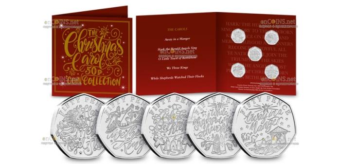Остров Гернси выпускает серию монет Рождественские гимны