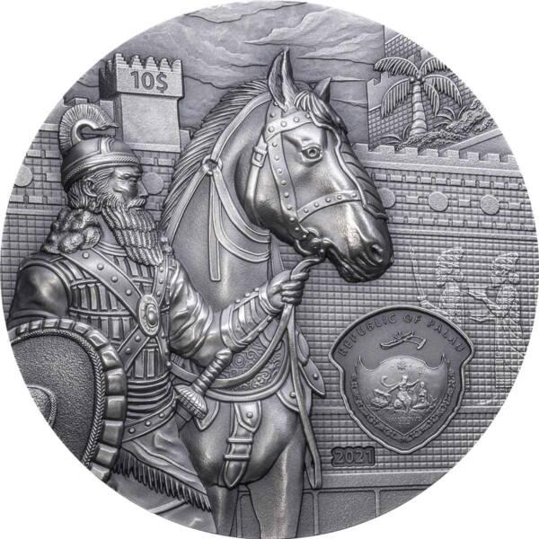 Палау монета 10 долларов Вавилон, аверс