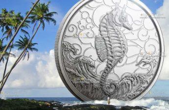 Самоа выпустило в обращение монеты 2 тала Морской Конек