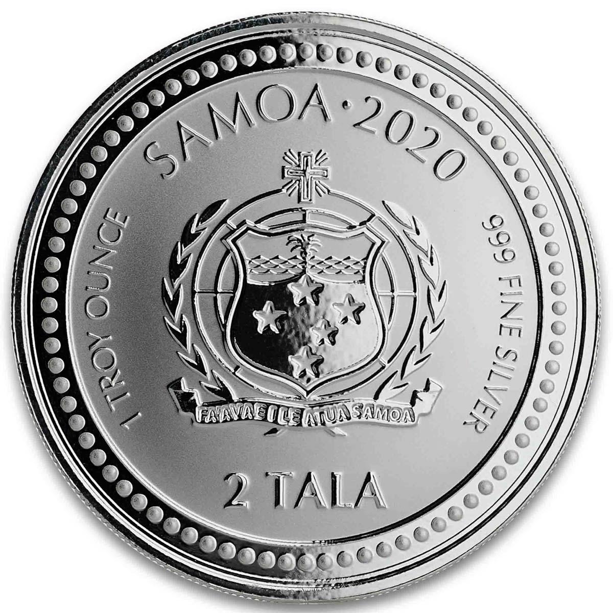 Самоа выпустило в обращение монеты 2 тала Морской Конек, аверс