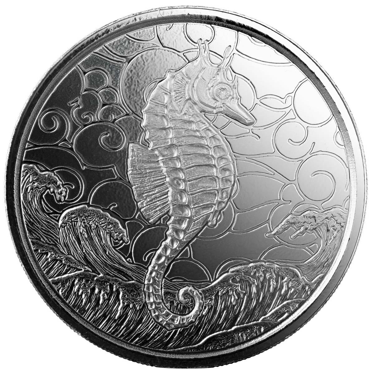 Самоа выпустило в обращение монеты 2 тала Морской Конек, реверс